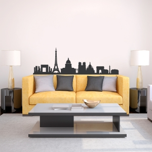 Paris France Skyline wall decal
