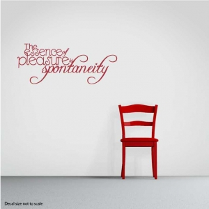 The essence wall decal quote