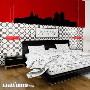 Amsterdam Netherlands Skyline Vinyl Wall Art Decal