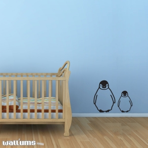 Baby Penguins wall decal