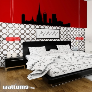Barcelona Spain Skyline Vinyl Wall Art Decal