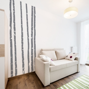 Long Skinny Birch Tree wall decal