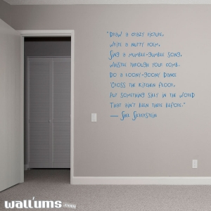 Draw a crazy wall decal quote