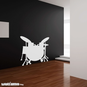 Drum wall decal