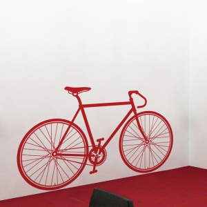 Fixed gear bike wall decal