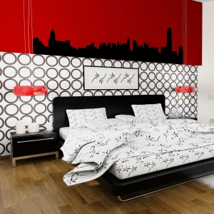 Hong Kong wall decal