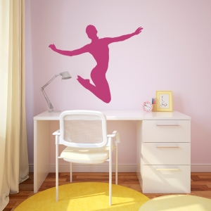 Jumping Ballerina Wall Decal