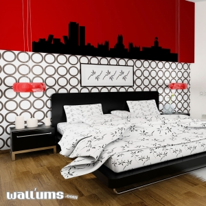 Madrid Spain Skyline Vinyl Wall Art Decal