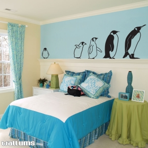 March of the penguins wall decal