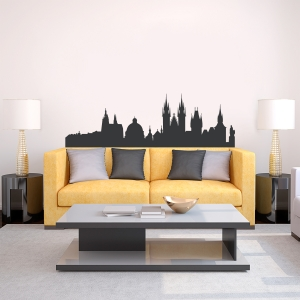 Prague Czech Republic Skyline Vinyl Wall Art Decal