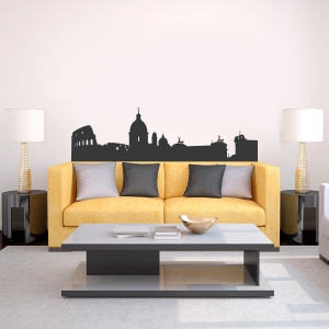 Rome Italy Skyline Vinyl Wall Art Decal