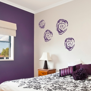 Violet Rose Wall Decals