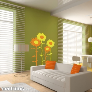 Sunflower wall decal