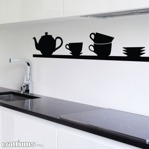 Tea time wall decal