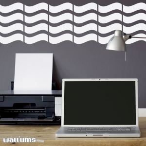 Wall waves wall decal
