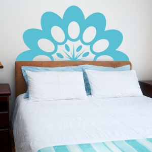 Abstract Headboard Flower Wall Decal