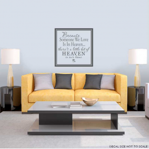 Because wall decal quote