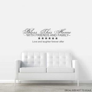 Bless wall decal quote