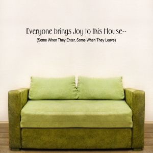 Everyone wall decal quote