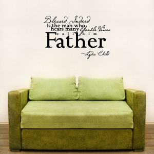 Blessed indeed wall decal quote