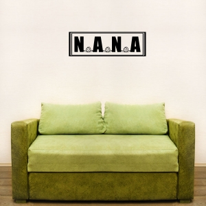 Nana wall decal quote