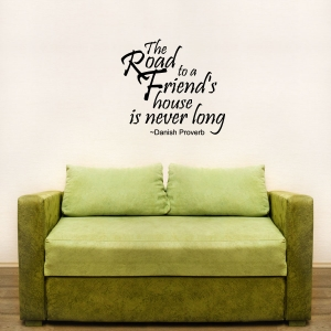 The road wall decal quote