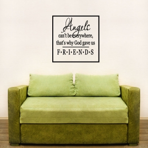 Angels wall decal quote