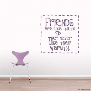 Friends are wall decal quote