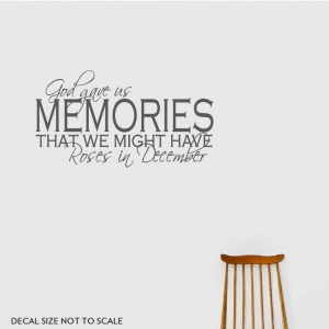 God gave us wall decal quote