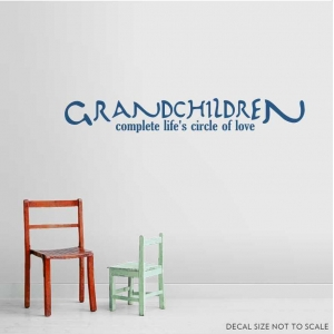 Grandchildren wall decal quote
