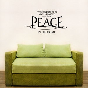 He is happiest wall decal quote