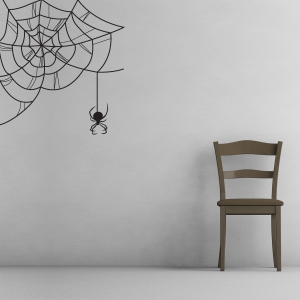 Black Widow Spiderweb Wall Decal