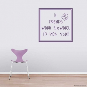 If friends wall decal quote