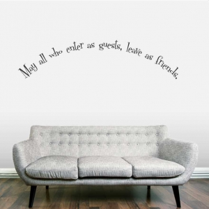 May all who wall decal quote
