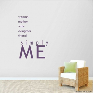 Woman wall decal quote