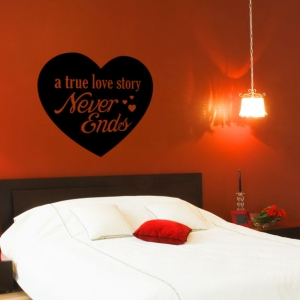 A True Love Story Wall Art Decal