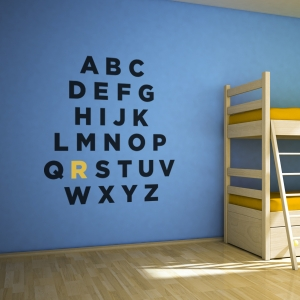 Custom Alphabet Wall Art Decal