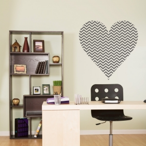 Chevron Heart Wall Decal