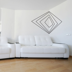 corner art wall decal