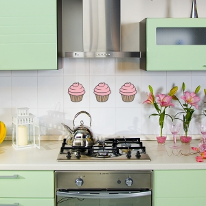 Cupcake Trio Wall Decal