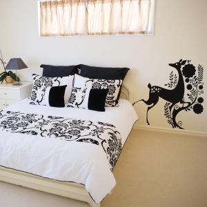 Lady Deer Elegant Wall Art Decal