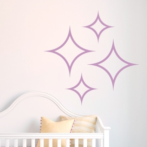 Diamond Stars wall decal