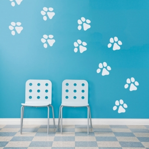 Dog Paw Prints Wall Decal