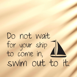 Do not wait wall decal