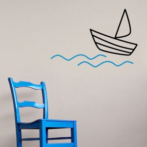 Sailing the Ocean Wall Decal