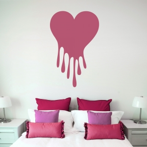 Dripping Painted Heart Wall Decal Quote