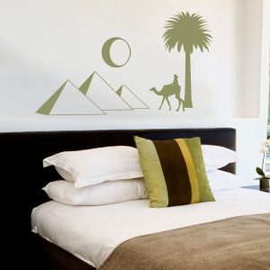 Egyptian Pyramid Skyline Wall Decal