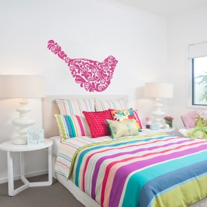 Floral Bird Wall Decal