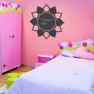Flower Chalkboard Wall Art Decal