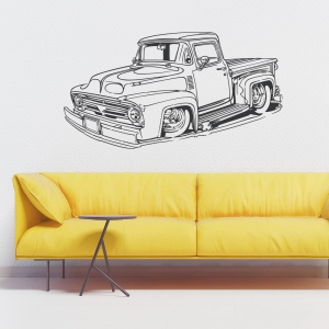Classic Ford pickup wall decal